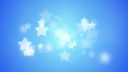 blue stars bokeh shallow DOF loopable background