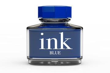 Blue Ink Bottle