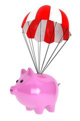 Piggy Bank with Parachute