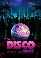 Disco background. Disco poster