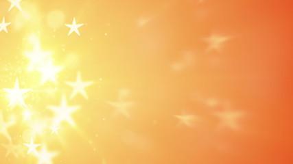 orange stars bokeh shallow DOF loopable background