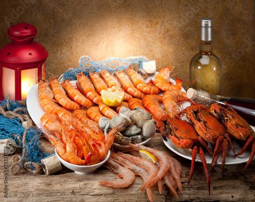 Staande foto Schaaldieren seafood