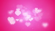 pink heart shapes bokeh loopable romantic background