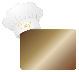 Chef hat with menu