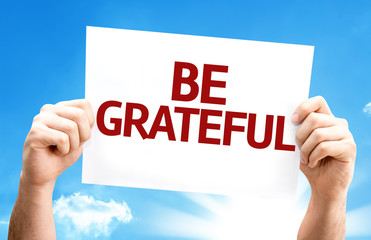 Be Grateful card with a beautiful day