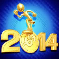 Coin Unicycle With Year