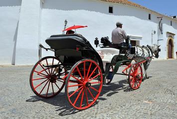 Coche de caballos, Ronda, Málaga, España