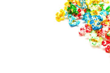Sweet colored popcorn
