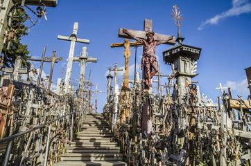 Treppe am Berg der Kreuze