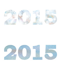 Happy new 2015 year banners, vector illustration