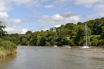 boats on Tamar river, Cornwall