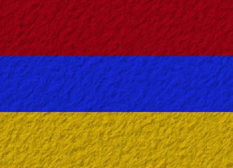 Armenia flag stone