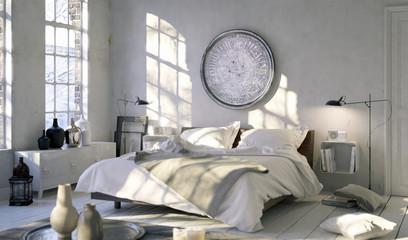 Bett in Altbau Loft - Bed in old downtown Loft