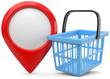Ortsmarker Einkaufskorb