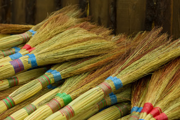 colored brooms