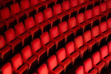 Empty theater chairs