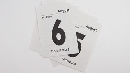 Alle Tage im August