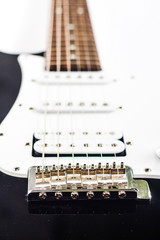 electric guitar in perspective on white background