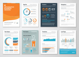 Infographic business elements and vector design illustrations
