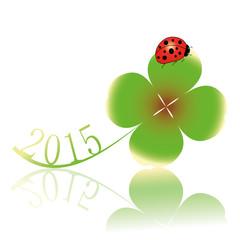 2015,silvester,sylvester,neujahr,klee,kleeblatt,marienkäfer,rot