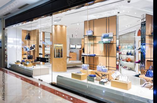 Leinwanddruck Bild handbag retail fashion store