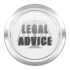 legal advice metallic icon law sign