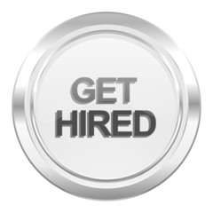 get hired metallic icon