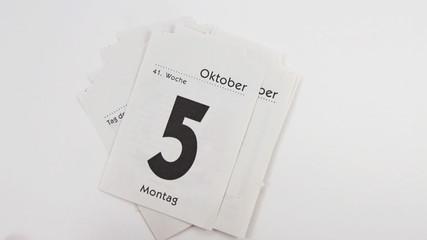 Alle Tage im Oktober