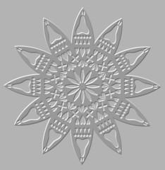Silver relief decorative motif