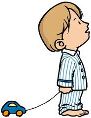 niño en pijama