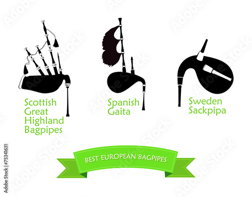 Poster with Most Popular Bagpipes - 75341631