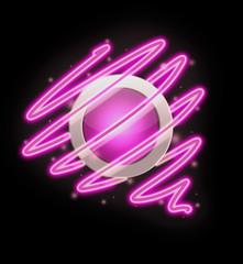 bright spiral around the button pink colour