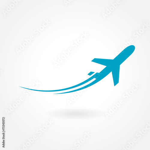 airplane flight tickets air fly travel takeoff silhouette elemen - 75343072