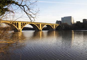 Georgetown Bridge, Washington DC over the Potomac River