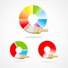 brush colored spectrum