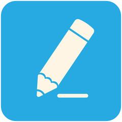 Pencil draws a line icon