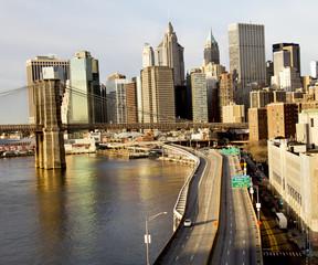 Brooklyn Bridge sunrise, New York City, USA