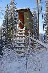 hochstand im winter