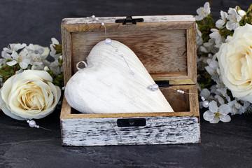 Herz in einer Schatulle