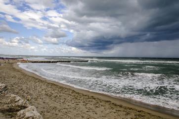 Tempesta in arrivo sul mare