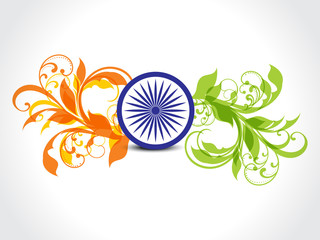 Indian republic day floral Background