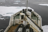 Sailing in ice, N / E Greenland.