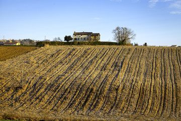 Monferrato winter view. Color image