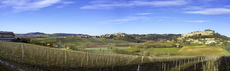 Monferrato winter panorama. Color image