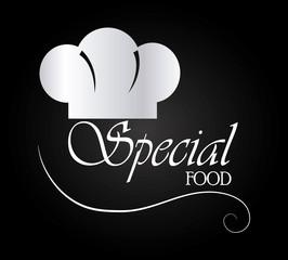 Food design over black background vector illustration