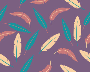 Abstract background feathers
