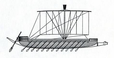 Warship of Pharaoh Ramses III