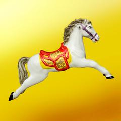 Carrousel-Pferd, qu.