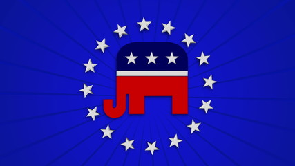 Republican Elephant with Alpha