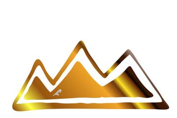 goldene Berge - Silhouette